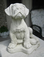 CONCRETE BOXER DOG STATUE OR USE AS A MONUMENT
