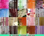 20 Color Fringe Door Window Panel Room Divider String Curtain Strip Tassel 3M/1M