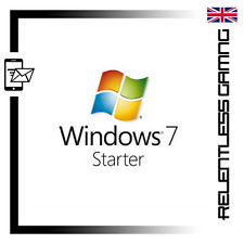 WINDOWS 7 STARTER 32 / 64 BIT GENUINE MICROSOFT LICENSE PRODUCT KEY - INSTANT!