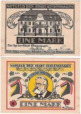 Germany 1 Mark 1920 Notgeld Stavenhagen AU-UNC Banknote