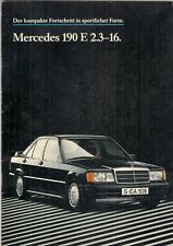Mercedes-Benz 190E 2.3-16 Cosworth 1984-85 German Market Sales Brochure