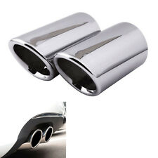 2x Rear Stainless Exhaust Tail Pipe Tip Muffler End Trim For A3 8P 09 10 11 2012