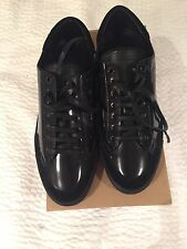 New Authentic Burberry Men Black leather sneakers Shoes Logo Sold Out 42 8 $540