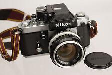 Nikon F2 W/DP-1, 50mm f1.4 Lens, Case and Shoulder Strap
