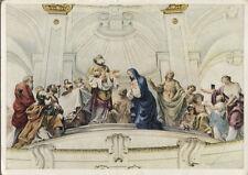 Arte antiguo tarjeta postal-representación de Jesús en el templo-kuppelbild abadía neresheim