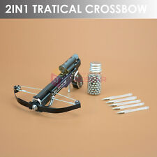TOP 2IN1 Mini Crossbow Pocket Handheld Toy Made by Aviation Aluminum Alloy