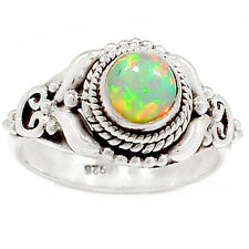 Ethiopian Opal 925 Sterling Silver Ring Jewelry s.7 SR212251