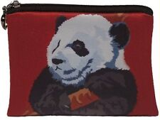 Giant Panda Change Purse,  Coin Wallet - From my Original Oil Painting