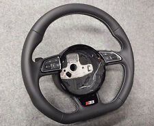 Audi S3 A3 8V 8V0 DSG flat bottom WHITE THREAD steering wheel lenkrad S RS