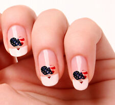 20 Nail Art Decals Transfers Stickers #278 - American Flag Heart