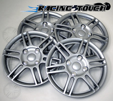 "Wheel Cover Replacement Hubcaps 14"" Inch Metallic Silver Hub Cap 4pcs Set #004"