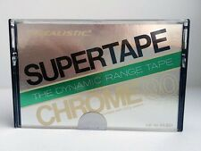 REALISTIC SUPERTAPE CHROME 90 BLANK AUDIO CASSETTE TAPE NEW RARE USA MADE