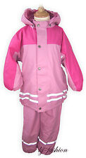 NEU Winter Regenset mit Fleece Futter in ROSA Gr.86