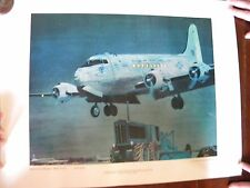 1969 Herb Mott US Air Force Art Collection Berlin Airlift C-54 Transport Poster