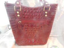 """Red Faux Alligator / Crocodile Purse Handbag 10"""" x 10"""""""