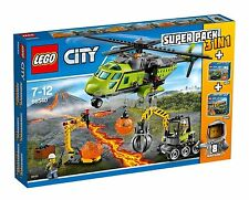 Lego City 66540 Super Pack 3 en 1 Volcano - New and Sealed