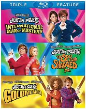 AUSTIN POWERS 1 2 3 TRIPLE MOVIE PACK  -  Blu Ray - Sealed Region free