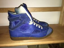 Maison Martin Margiela Navy Leather High top Sneakers ITALY FRANCE 41 mens Sz 8