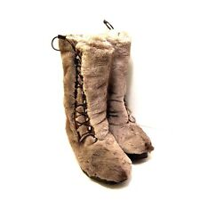 J-1641210 New Bally Vilhelm Natural Reindeer Himalaya Lace Boots Size 10