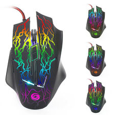 2400 DPI 6D Buttons LED Wired Gaming Mouse For PC Laptop Computer Maus