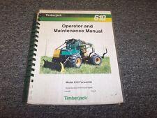 Timberjack 610 Forwarder Owner Operator Maintenance Manual Guide Book F284065