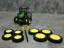 1/64 Farm custom scratch 14.9 R50 tractor kit yellow rims + axels and spacers