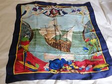 HERMES CHRISTOPHE COLOMB SILK SCARF!