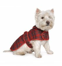 New Ancol Muddy Paws Highland Puppy Dog Coat Veste d'hiver, Red Tartan, Grand