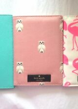 New KATE SPADE Daycation Owl Imogene Passport Holder Wallet In Cream & Pink Gift