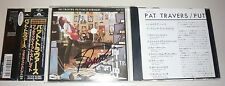 PAT TRAVERS Putting It Straight Signed Japan CD POCP 1501 Iron Maiden Obi Strip