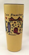 Yellow San Francisco CA Double Shot Tall Glass Souvenir Luke-A-Tuke