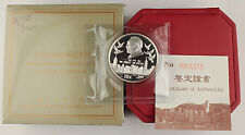 1995 China 10 Y 1 Oz Silver Proof Coin Return of Hong Kong Series I +BOX & COA