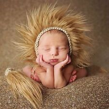 Newborn Baby Crochet Knit Hat Costume Photo Photography Prop Outfits Indian Cap