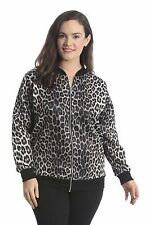 New Ladies Bomber Jacket Womens Plus Size Floral Coat Ribbed Varsity Nouvelle