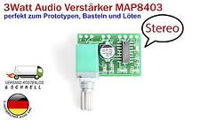 Un mini 2x3 Watt Amplificatore audio stereo con volume regime pam8403