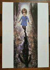 "1963 Walter (Margaret) Keane Print BIG EYES Card ""The Runaway"" blank"