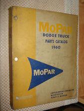 1960 DODGE TRUCK PARTS BOOK ORIGINAL RARE MOPAR LIST CATALOG TRUCKS