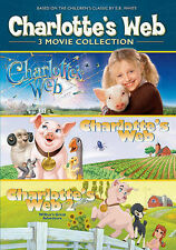 Charlotte's Web Collection (DVD, 2013) 3 Movies New Factory Sealed
