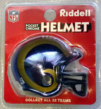 NFL Riddell American Football Pocket Chrome Traditional Helmet LA RAMS