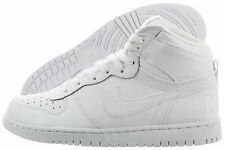 Nike Men's Big Nike High White Leather Casual Basketball  336608 119 Size 11