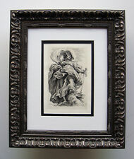 RUBENS St Catherine of the Wheel DURAND Original 1800s Etching FRAMED Signed COA