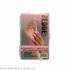 The Edge Nails competition white 100 assorted nail tips