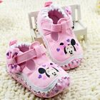 Baby Girls Minnie Mouse Pink Disney Summer Mary Jane Shoes Pre Walkers