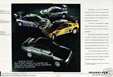 Publicité advertising 1990 (2 pages) Peugeot 405 MI 16 X4