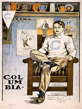 PAINTINGS DRAWING SPORT FOOTBALL COLUMBIA IVY LEAGUE LIONS POSTER PRINT LV3113