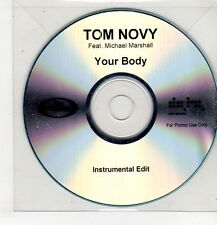 (GU484) Tom Novy ft Michael Marshall, Your Body - DJ CD