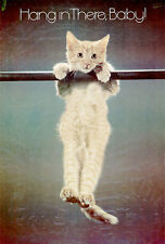 1970s Hang in There Baby! cat kitten poster replica magnet - new!