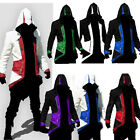 Stylish Zipper Cool Slim Men's Hoodie For Assassin's Creed Cosplay Costume