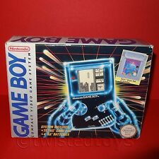 VINTAGE 1993 NINTENDO GAME BOY DMG-01 COMPACT VIDEO GAME SYSTEM + TETRIS BOXED