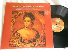 PURCELL Birthday Odes for Queen Mary DAVID MUNROW James Bowman Chris Hogwood LP